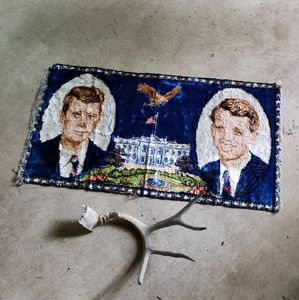 Vintage JFK 60s Tapestry Presidential Wall Decor